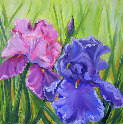 Painting - Waiting For Spring, Iris Garden by Vicki VanDeBerghe