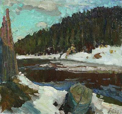 Painting - Waiting For Spring by Juliya Zhukova
