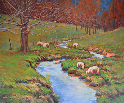 Branch Hill Pond Painting - Waiting For Spring by Keith Burgess