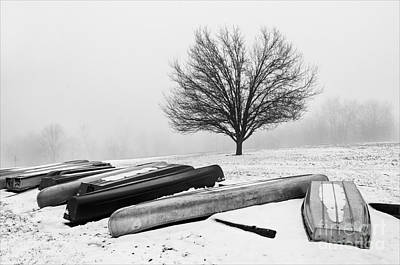 Photograph - Waiting For Summer - D009873-bw by Daniel Dempster