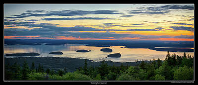Photograph - Waiting For Sunrise, Acadia National Park by Brian Caldwell