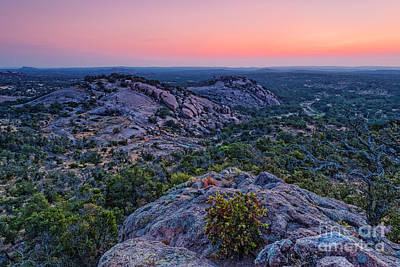 Photograph - Waiting For Sunrise At Turkey Peak - Enchanted Rock Fredericksburg Texas Hill Country by Silvio Ligutti