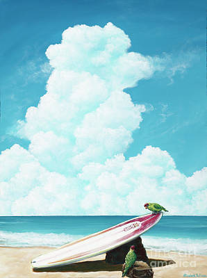 Painting - Waiting For Surf by Elisabeth Sullivan