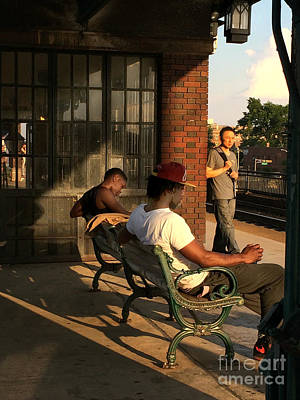 Photograph - Waiting For The 409 - Train Station Late Afternoon by Miriam Danar