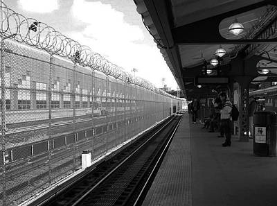 Photograph - Waiting For The 5 Train by Mary Capriole