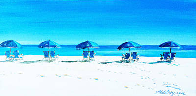 Waiting For The Beach Sitters Art Print
