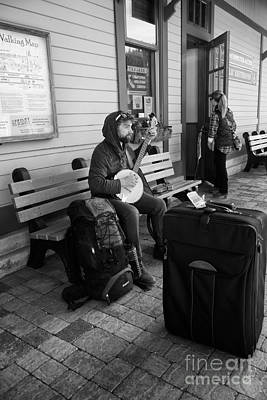 Photograph - Waiting For The Bus by Vinnie Oakes