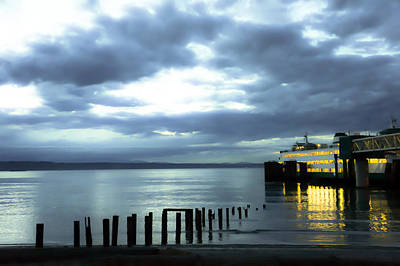 Waiting For The Ferry Art Print by Ronda Broatch