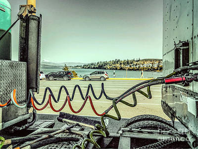 Photograph - Waiting For The Ferry by William Wyckoff