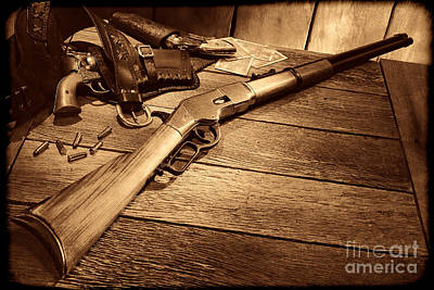 Photograph - Waiting For The Gunfight by American West Legend By Olivier Le Queinec