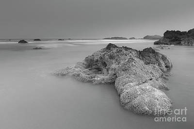 Sea And Rocks Photograph - Waiting For The High Tide by Masako Metz