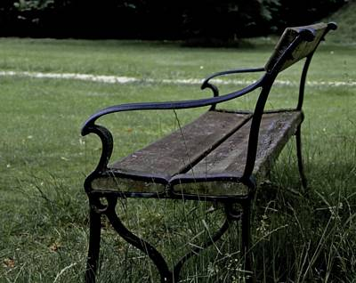 Park Benches Photograph - Waiting For The Ones by Odd Jeppesen