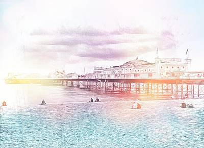 Photograph - Waiting For The Sunset At Brighton Pier by Dorothy Berry-Lound