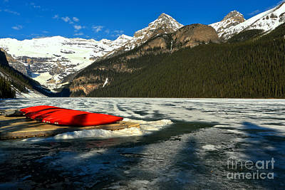 Photograph - Waiting For The Thaw At Lake Louise by Adam Jewell