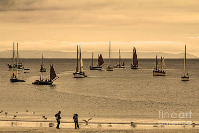 Photograph - Waiting For The Tide At Looe Cornwall by Brian Roscorla