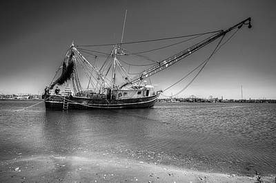 Photograph - Waiting For The Tide To Change In Black And White by Debra and Dave Vanderlaan