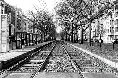Photograph - Waiting For The Train In Berlin by John Rizzuto