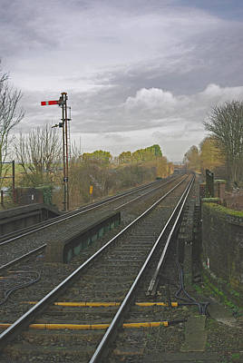 Signalman Photograph - Waiting For The Train by Peter Spence-knight