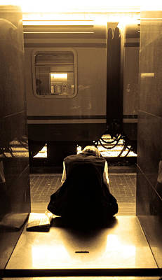 Photograph - Waiting For The Train by Scott Sawyer