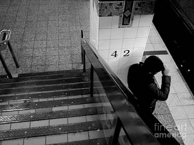 Photograph - Waiting For The Train - Subways Of New York by Miriam Danar