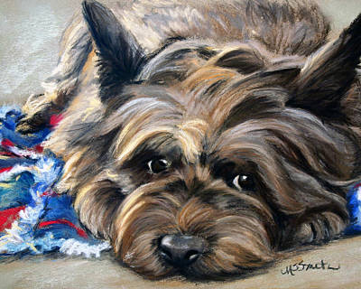 Cairn Terrier Painting - Waiting For The Wizard by Mary Sparrow