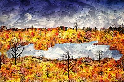 Photograph - Autumn Pond by Diana Angstadt