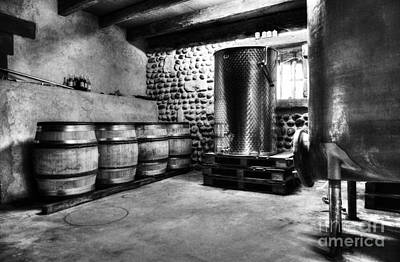 Photograph - Waiting For Wine Bw by Mel Steinhauer
