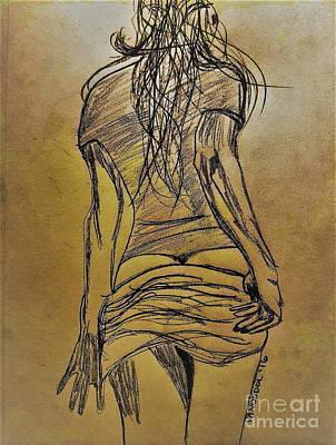 Waiting For You - Bronze Abstract Original by Scott D Van Osdol