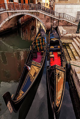 Photograph - Waiting Gondolas by Andrew Soundarajan