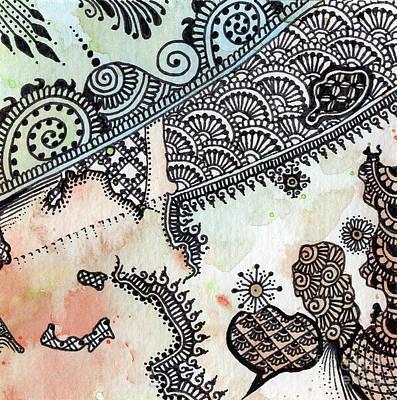 Wall Art - Mixed Media - Waiting I by Susanna Fields-Kuehl