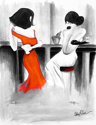 Martini Paintings - Waiting II by Catherine  Carbone