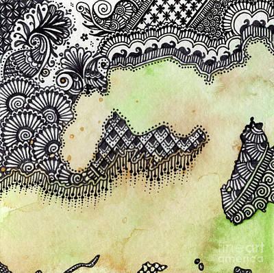 Wall Art - Mixed Media - Waiting IIi by Susanna Fields-Kuehl