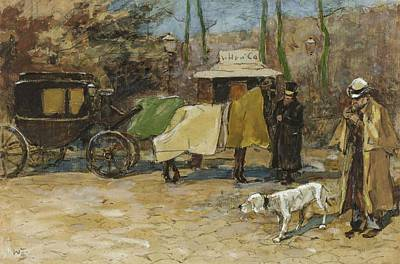 Sports Illustrated Covers - Waiting in a car park  Willem de Zwart  1872   1931 by Artistic Panda
