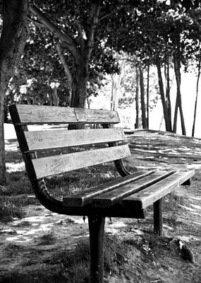 Waiting In Bw Art Print by Edward Myers