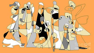 Digital Art - Waiting In Line 2 by Nancy Kane Chapman