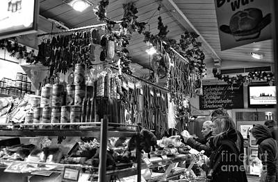 Photograph - Waiting In Line At The Food Market by John Rizzuto