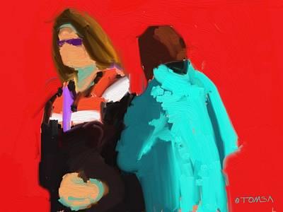 Digital Art - Waiting In Line by Bill Tomsa