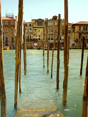 Waiting In Venice Art Print by Julie Palencia