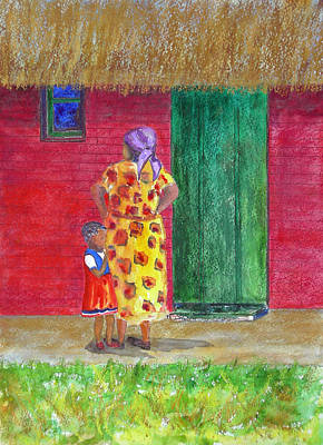 Painting - Waiting In Zimbabwe by Patricia Beebe