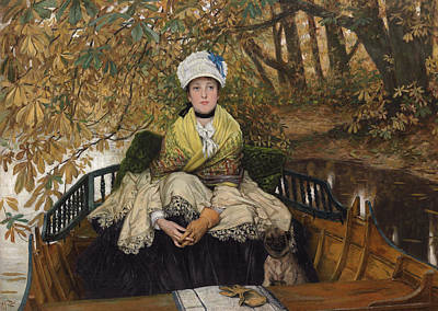 Rivers In The Fall Painting - Waiting by James Jacques Joseph Tissot