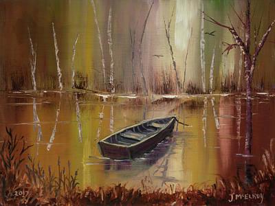 Painting - Waiting by Jerry McElroy