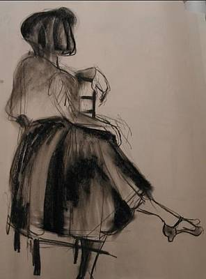 Drawing - Waiting by Maria  Disley