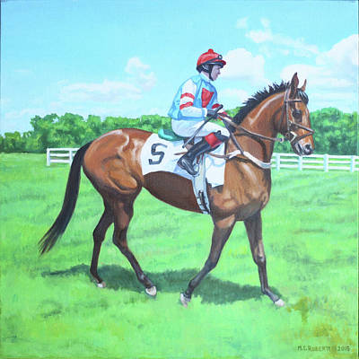 Anticipation Drawing - Race Day by Michael Roberts