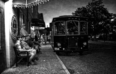 Photograph - Waiting On A Bus In Black And White by Greg Mimbs