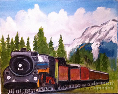 Painting - Waiting On A Siding In The Rockies by Rod Jellison