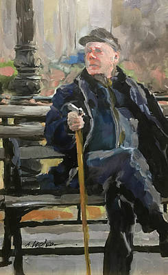 Painting - Waiting On The Bus by Steven Lester