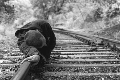 Photograph - Waiting On The Rails by Ana Leko Nikolic