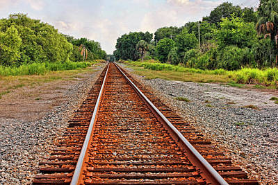 Photograph - Waiting On The Train by HH Photography of Florida