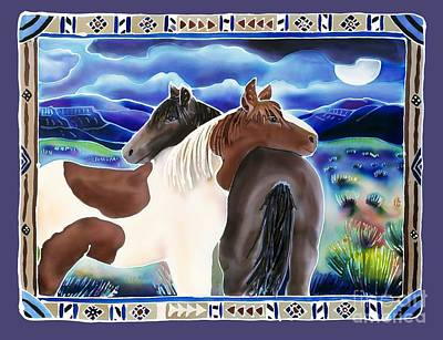 Wild Horse Painting - Waiting Out The Storm by Harriet Peck Taylor
