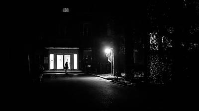 Waiting - Palestrina, Rome - Black And White Street Photography Art Print by Giuseppe Milo